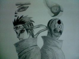 Pain and Madara by MadaraAssassin