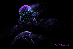 Moon Jellies by LiquidCandyRainbow