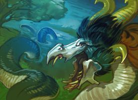 Parrot wyrm by 3Daemon