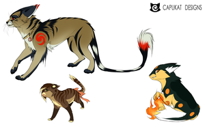 CLOSED- Assorted Feline Adoptables by Capukat