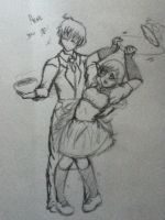 Waiter and Waitress by AbominalSnowDemon