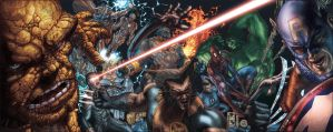 MARVEL HEROES PRINT COLOR by simonebianchi