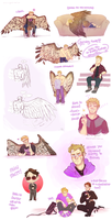 Hawkeye Sketch Dump by Aibyou
