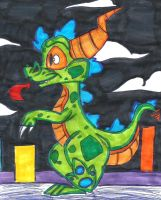 (Spyro)Cosplaying as Reptar! by KrazyKari