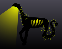 Lamp Creature (Closed) by TheGhoulAdopts