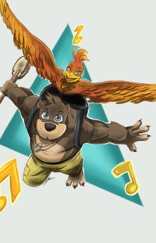 Banjo and Kazooie by Dericules