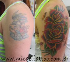 Rose Cover up by micaeltattoo