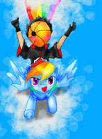 Tobi and Rainbow Dash by Froncake