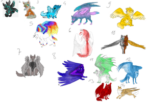 Winged Wolf Adopts (OPEN 6/14) NOW FREE! by SunlightMetal