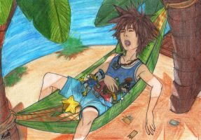 Sora at the Beach! by AurelGweillys