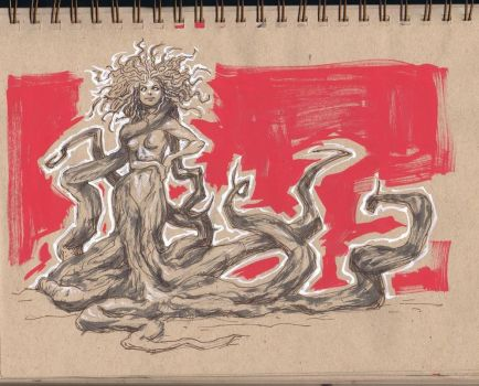 Drink and Draw- Tree Root Girl by ARTofANT