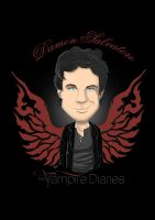 Damon Salvatore Caricature by anapeig
