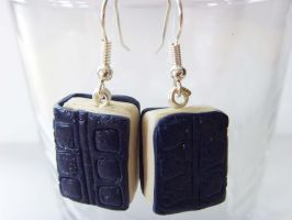 River Song's Diary Journal Earrings by tyney123