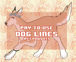 generic canine line pack (lots of line edits) by crowmunism