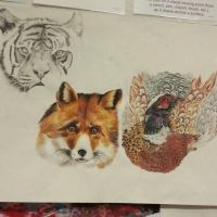 Animals Fox Pheasant and Tiger  by OrhideArt