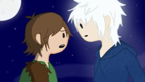 Jack Frost and Hiccup by crystal19996