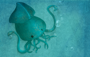 A tentacled wallpaper by Pandasquid