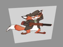 Shorty Hunter Fox by hampsty