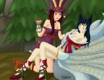 Caitlyn and Ahri - Charmed by Ankhrono
