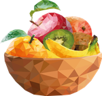 fruit bowl lowpoly by oddkh1