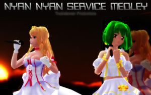 MMD Nyan Nyan Service Medley by Trackdancer