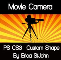 Movie Camera PS CS3 Shape by estjohn
