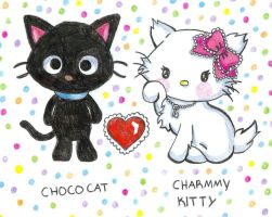 chococat and charmmy kitty by jolly-GOODsocks-101