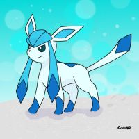 Artic Glaceon by androtech95