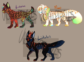 Linkaton and MystikMeep Customs by Unstadoptables