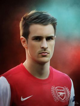 Aaron Ramsey - Painting by Lasse17