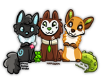 Canine Trio by Ithlini
