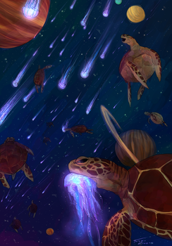 Turtle Space by darndragon