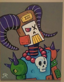Robot painting 4 by Jack-Roach0