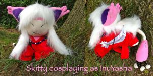 Skitty Cosplaying as InuYasha by CeltysShadow