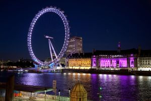 london eye at night ... by melmarc