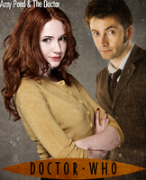 Amy Pond and The 10th Doctor Poster by feel-inspired