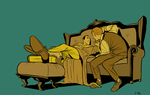 holm and wats on the settee by PollyGuo