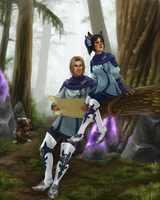 Blue mages in Zi'Tah by Blackash