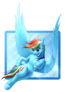 Rainbow Dash 2017 by MykeGreywolf