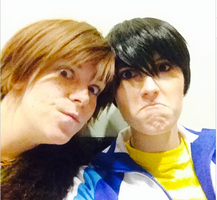 Hiccup and Haru - Frowny Faces by TheAlchemicFox