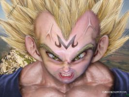 Untooned PAPIEL MAJIN VEGETA by curi222