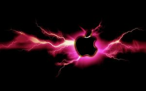 Pink Lightning Apple by mind4music