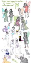 Stupid Homestuck sketchdump x) by DymasyaSilver