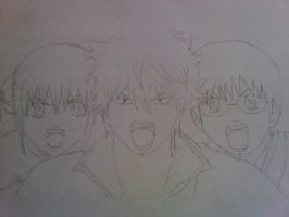 Gintoki , Kagura and Shinpachi Draw by alyn2rikla