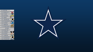 Dallas Cowboys 2013 Schedule Wallpaper by SevenwithaT