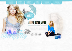 Taylor Swift Header Site. by Camellote