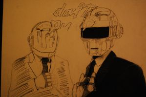 Daft Punk WIP by sweetheartkit