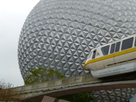 Epcot Ball and Monorail by AshpodThePortalFur