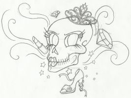 Dead and Fabulous Outline by AcidUnicorn