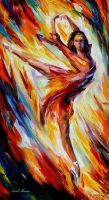 Passion And Fire by Leonid Afremov by Leonidafremov